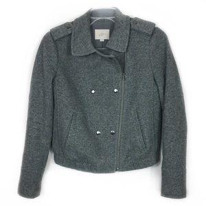 Loft Gray Moto Jacket, size XS